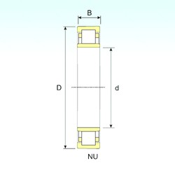 95 mm x 170 mm x 43 mm  ISB NU 2219 cylindrical roller bearings