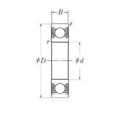 12 mm x 32 mm x 10 mm  NSK 6201DDU deep groove ball bearings