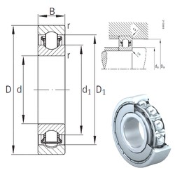 35 mm x 62 mm x 14 mm  INA BXRE007-2Z needle roller bearings