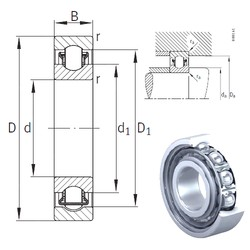 35 mm x 62 mm x 14 mm  INA BXRE007 needle roller bearings