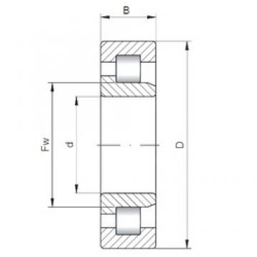 220 mm x 370 mm x 120 mm  ISO NJ3144 cylindrical roller bearings