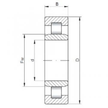 240 mm x 500 mm x 95 mm  Loyal NU348 E cylindrical roller bearings