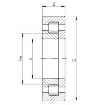 95 mm x 170 mm x 43 mm  ISO NUP2219 cylindrical roller bearings