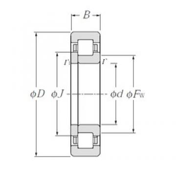 95 mm x 170 mm x 43 mm  NTN NUP2219 cylindrical roller bearings