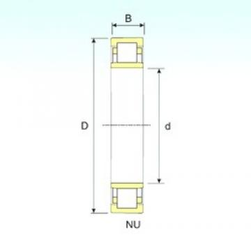 240 mm x 500 mm x 95 mm  ISB NU 348 cylindrical roller bearings
