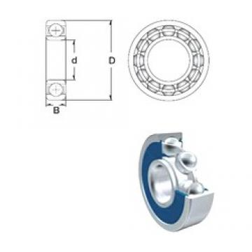 70 mm x 90 mm x 10 mm  ZEN 61814-2RS deep groove ball bearings