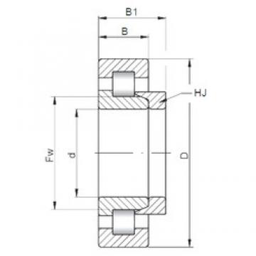 240 mm x 500 mm x 95 mm  ISO NH348 cylindrical roller bearings
