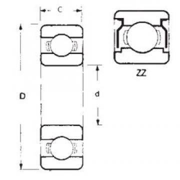 90 mm x 115 mm x 13 mm  FBJ 6818ZZ deep groove ball bearings